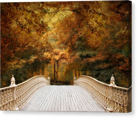 Pine Bank Autumn Canvas Print