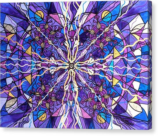 Mandala Canvas Print - Pineal Opening by Teal Eye  Print Store