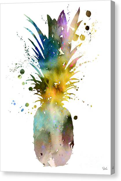 Pineapples Canvas Print - Pineapple 2 by Watercolor Girl