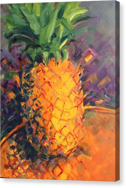Pineapple Explosion Canvas Print