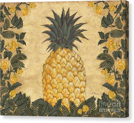 Pineapples Canvas Print - Pineapple Floral by Paul Brent
