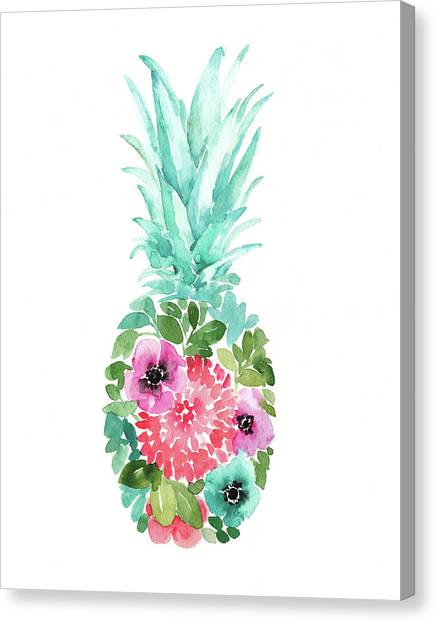 Pineapples Canvas Print - Pineapple I by Elise Engh