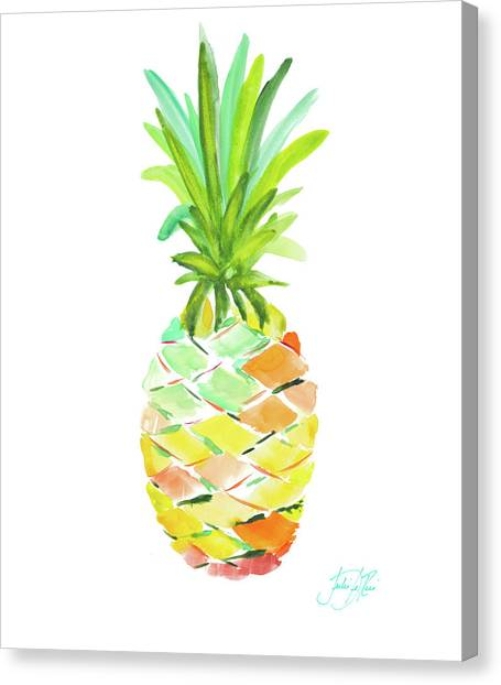 Pineapples Canvas Print - Pineapple I by Julie Derice