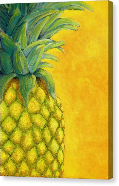 Pineapples Canvas Print - Pineapple by Karyn Robinson
