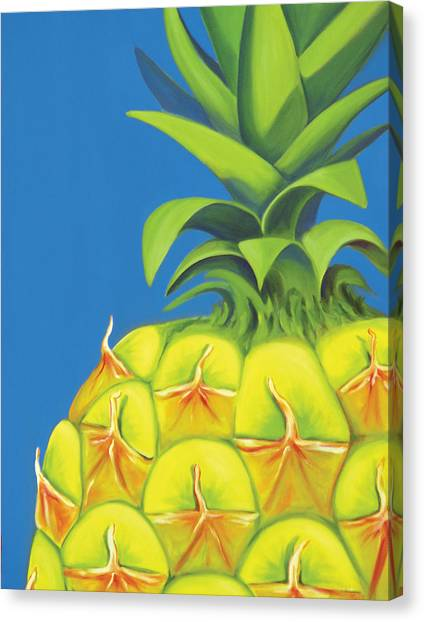 Pineapples Canvas Print - Pineapple by Laura Dozor