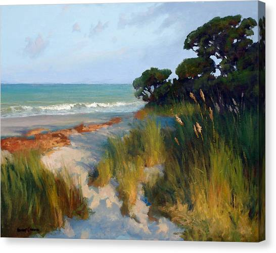 Simon Canvas Print - Pines And Sea Oats by Armand Cabrera