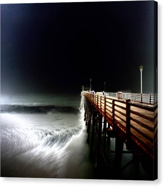 Pinhole Oceanside Pier Canvas Print