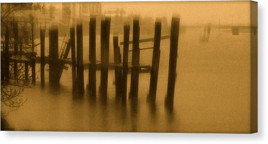 Pinholed Pier Canvas Print