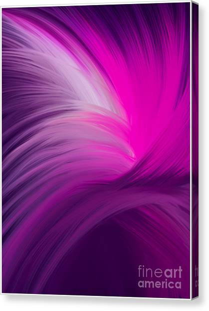 Pink And Purple Swirls Canvas Print