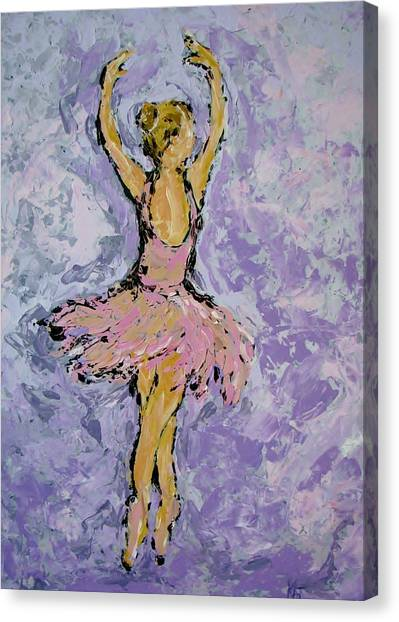 Pink Ballerina Canvas Print by Kat Griffin