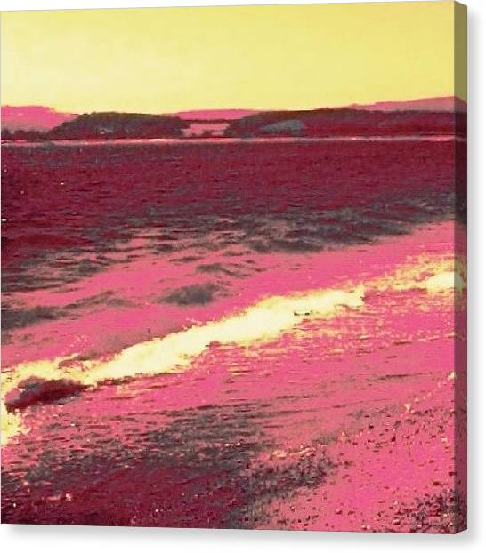 Floss Canvas Print - Pink Beach by Candy Floss Happy