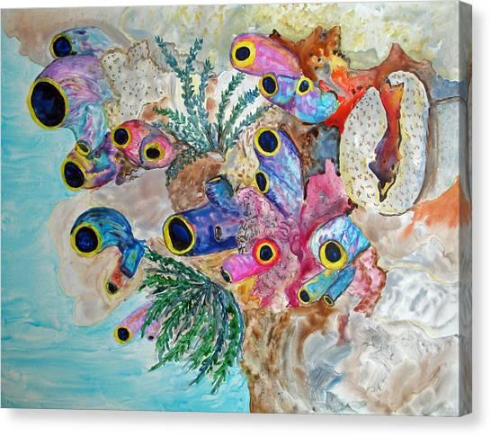 Pink Beach Sea Squirts Canvas Print