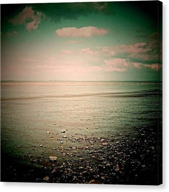 Floss Canvas Print - #pink #beach #twenty20 #ocean #pebbles by Candy Floss Happy