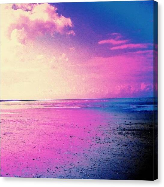 Floss Canvas Print - Pink Beach  #pink #beach #sea #ocean by Candy Floss Happy