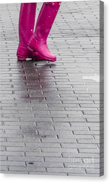Pink Boots 1 Canvas Print