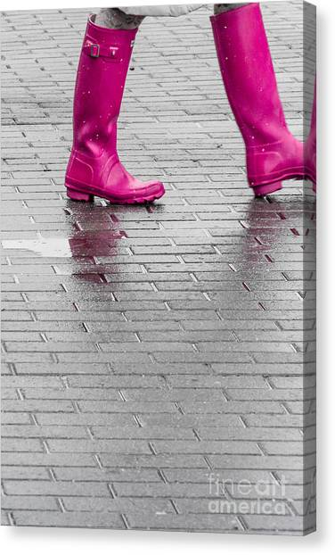 Pink Boots 2 Canvas Print