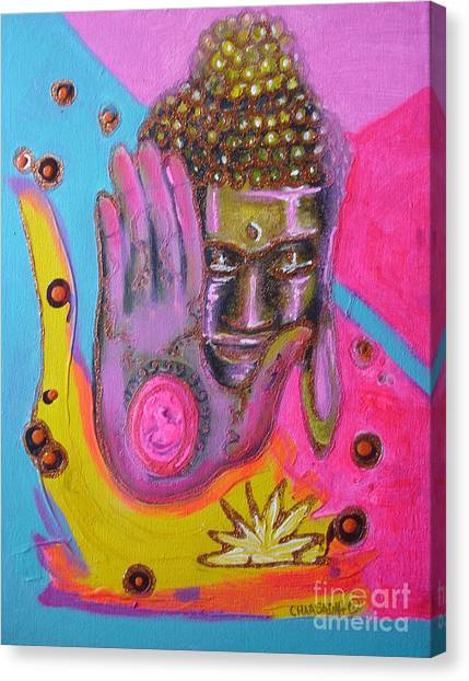 Pink Buddha Canvas Print