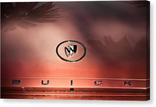 Pink Buick Canvas Print by Merrick Imagery