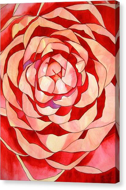 Pink Camellia Macro Canvas Print by Sacha Grossel