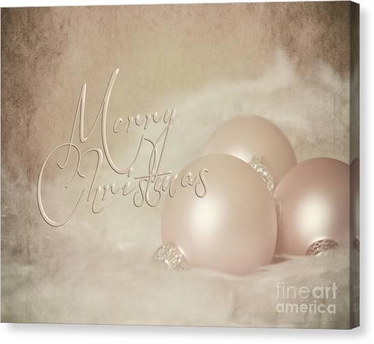 Pink Christmas Ornaments Canvas Print