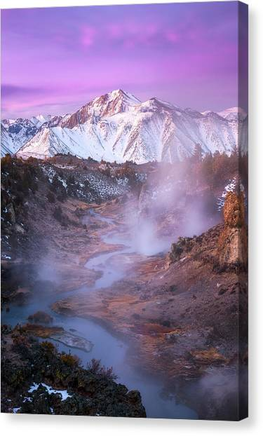 View Canvas Print - Pink Eastern Sierra by Daniel F.