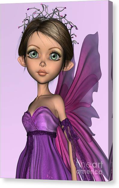 Pink Fairy Canvas Print by Design Windmill