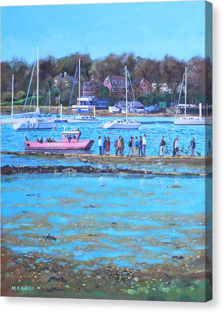 Pink Ferry On The River Hamble Canvas Print