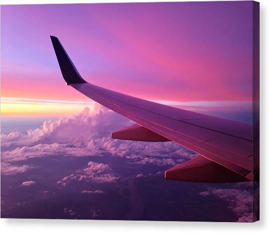 Airplanes Canvas Print - Pink Flight by Chad Dutson