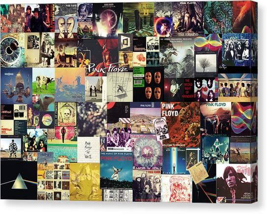 Pink Floyd Canvas Print - Pink Floyd Collage I by Taylan Apukovska