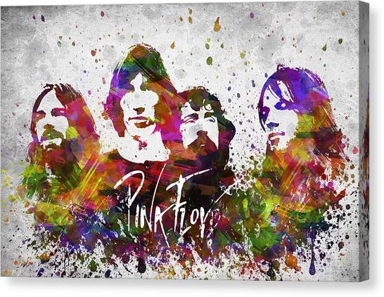 Pink Floyd Canvas Print - Pink Floyd In Color by Aged Pixel