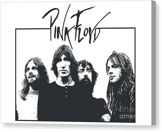 Pink Floyd Canvas Print - Pink Floyd No.05 by Geek N Rock