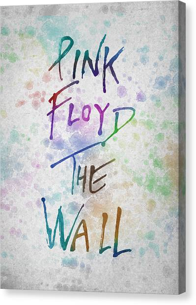Pink Floyd Canvas Print - Pink Floyed The Wall by Aged Pixel