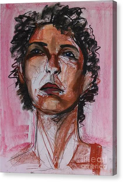 Canvas Print featuring the drawing Pink  by Gabrielle Wilson-Sealy