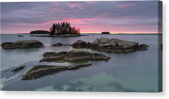 Pink Granite Glow Canvas Print