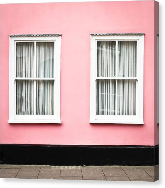 Window Canvas Print - Pink House by Tom Gowanlock