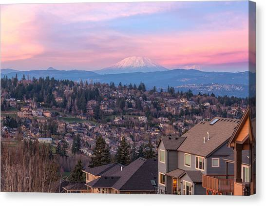 Pacific Division Canvas Print - Pink In Happy Valley by David Gn