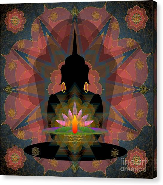 Pink Lotus Buddha Canvas Print