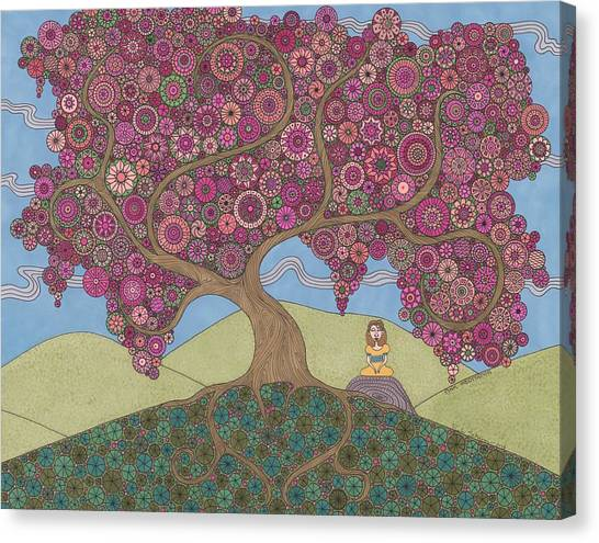 Pink Meditation Canvas Print