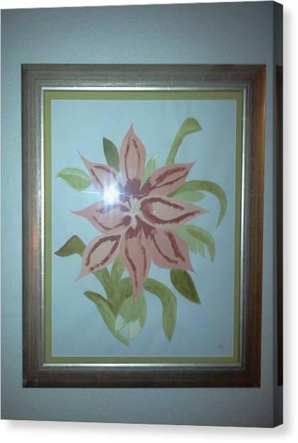 Pink Orchid Canvas Print by Karen Jensen