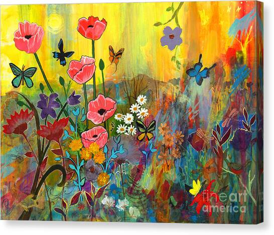 Pink Poppies In Paradise Canvas Print