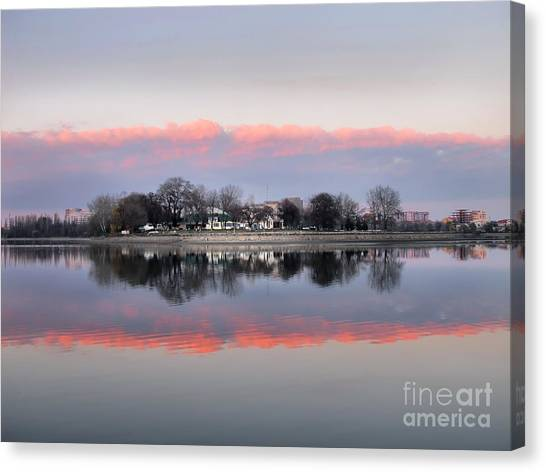 Pink Reflection  Canvas Print