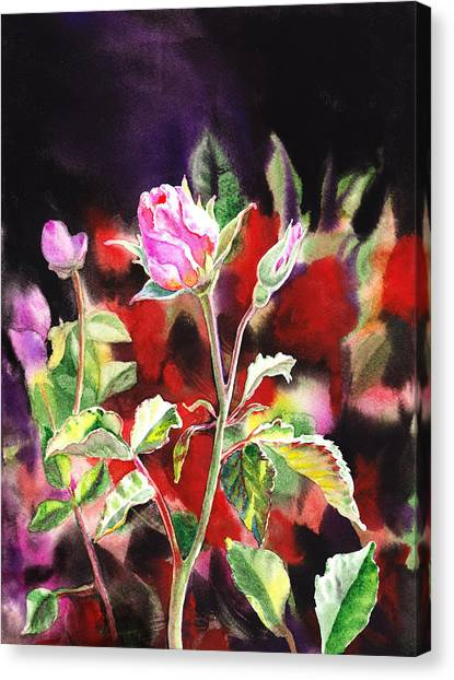 Irina Canvas Print - Pink Rose Bloom by Irina Sztukowski