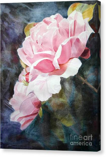 Pink Rose Caroline Canvas Print