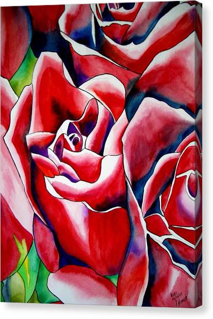 Pink Roses Canvas Print by Sacha Grossel
