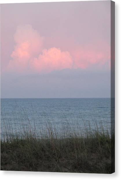 Pink Sky Canvas Print by Cheryl Smith