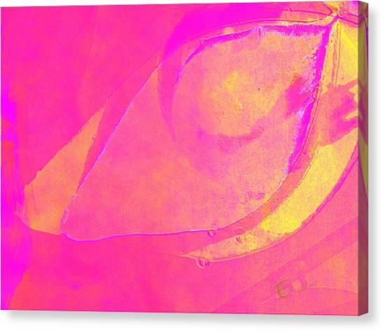 Pink Soul Dance Canvas Print by Ernestine Manowarda