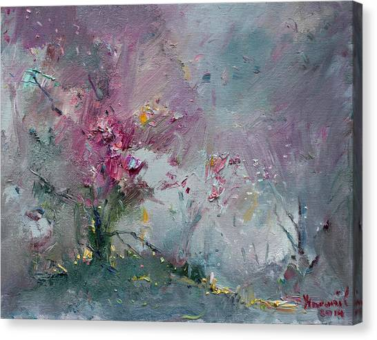 Blooming Tree Canvas Print - Pink Spring by Ylli Haruni