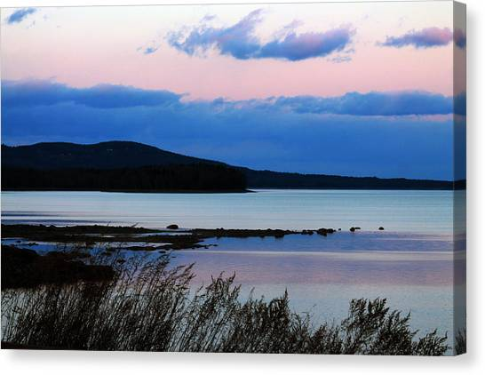 Pink Sunset In Kingston Canvas Print