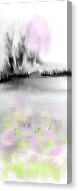 Pink Tree #2 Canvas Print