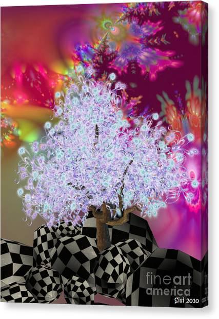 Pink Tree Canvas Print